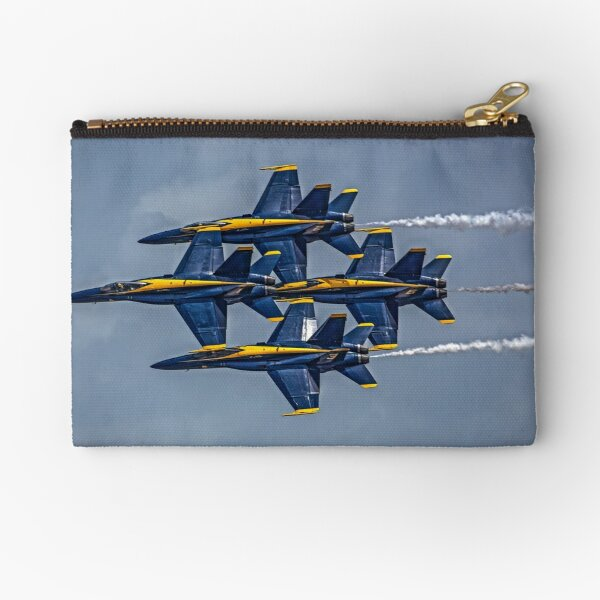 Navy Blue Angels F18 Jets Practicing At Pensacola Naval Air Station Zipper Pouch