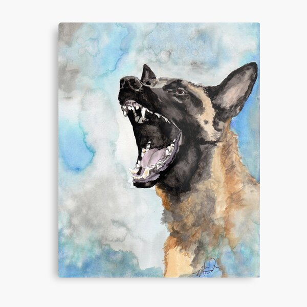 Working Dog Spirit Watercolor Print Metal Print