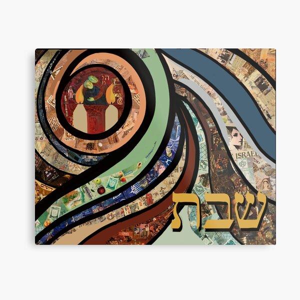 Shabbat Candles Metal Print