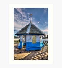 Yarmouth Pier Rotunda Art Print
