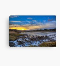 Sunset At The Yar Canvas Print