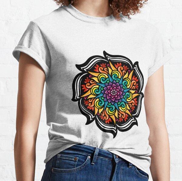 Rainbow Floral Pattern Classic T-Shirt