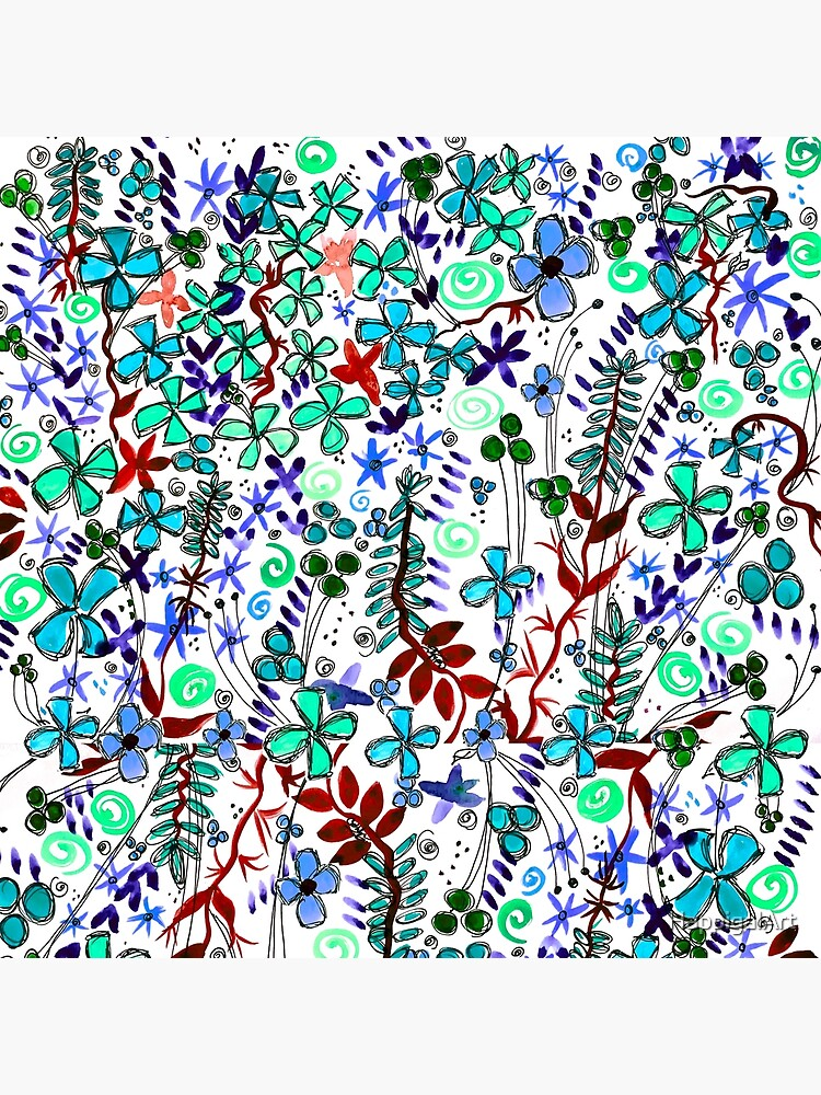 Pixel Dance Blue by HappigalArt