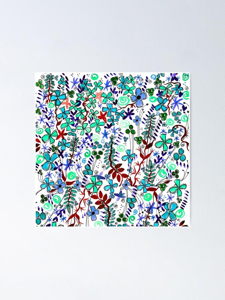 Alternate view of Pixel Dance Blue Poster