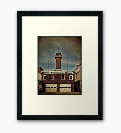 Goshen Firehouse Framed Print