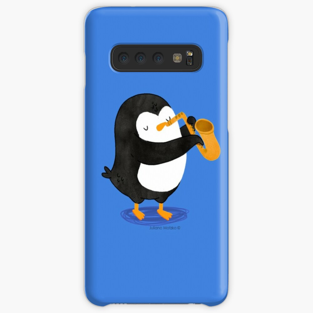 Steve Penguin playing a saxophone Case & Skin for Samsung Galaxy