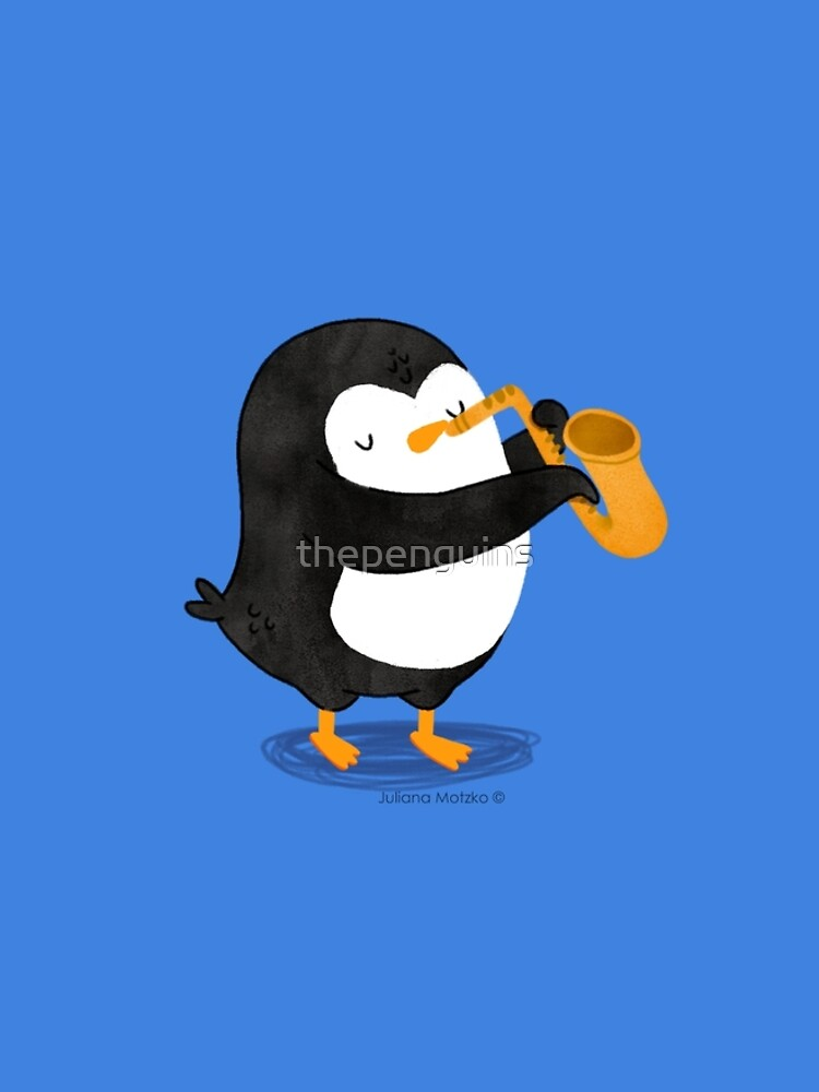 Steve Penguin playing a saxophone by thepenguins