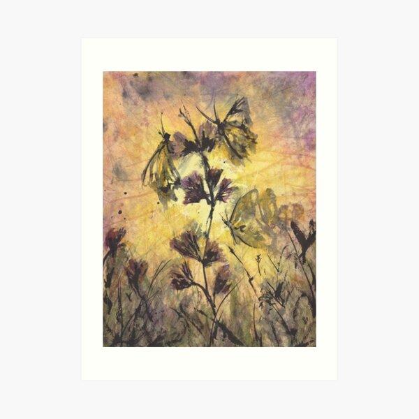 Dance of Butterflies at Sunset Watercolor Art Print