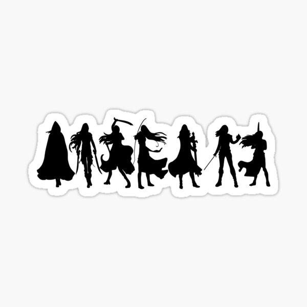 Throne  Of Glass Silhouettes  Sticker