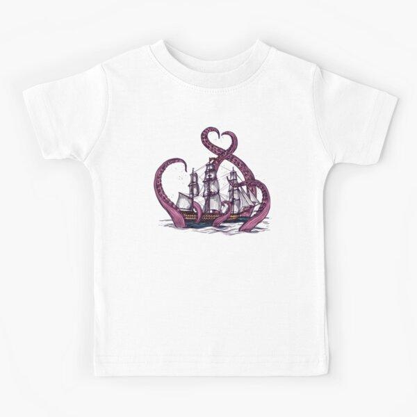 Kraken pirates des caraïbes Octopus T-shirt enfant