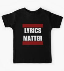 LYRICS MATTER Kids Clothes