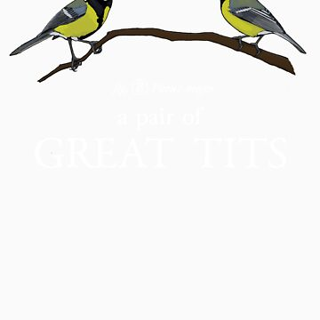 A Pair of Great Tits by butterwort