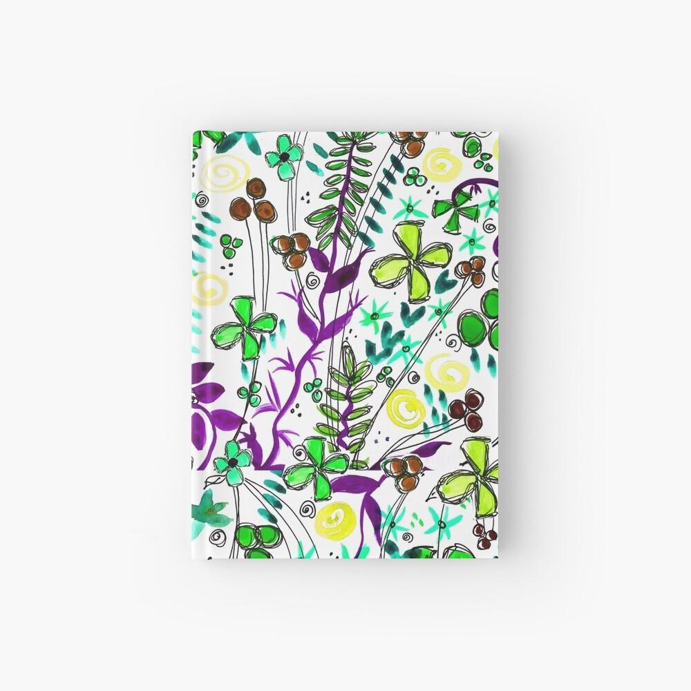 Pixel Dance Green Hardcover Journal