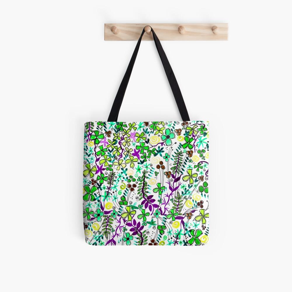 Pixel Dance Green Tote Bag