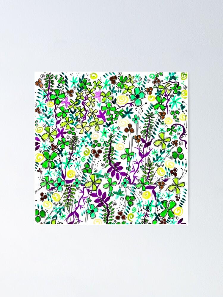 Alternate view of Pixel Dance Green Poster