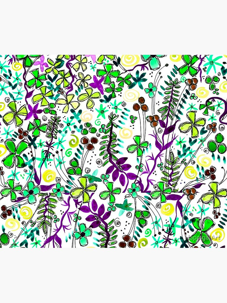 Pixel Dance Green by HappigalArt