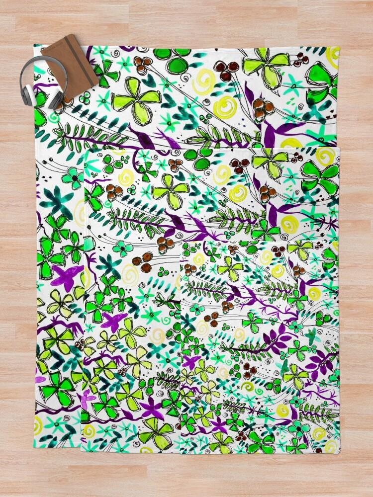 Alternate view of Pixel Dance Green Throw Blanket