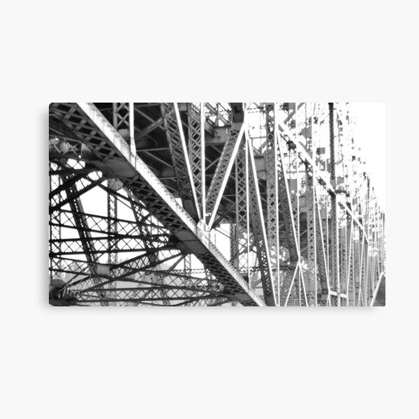 The Lines of a Bridge Canvas Print