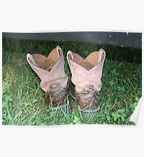 Worn Boots Poster