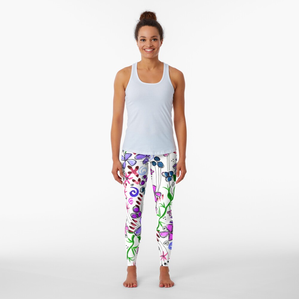 Pixel Dance Purple Leggings