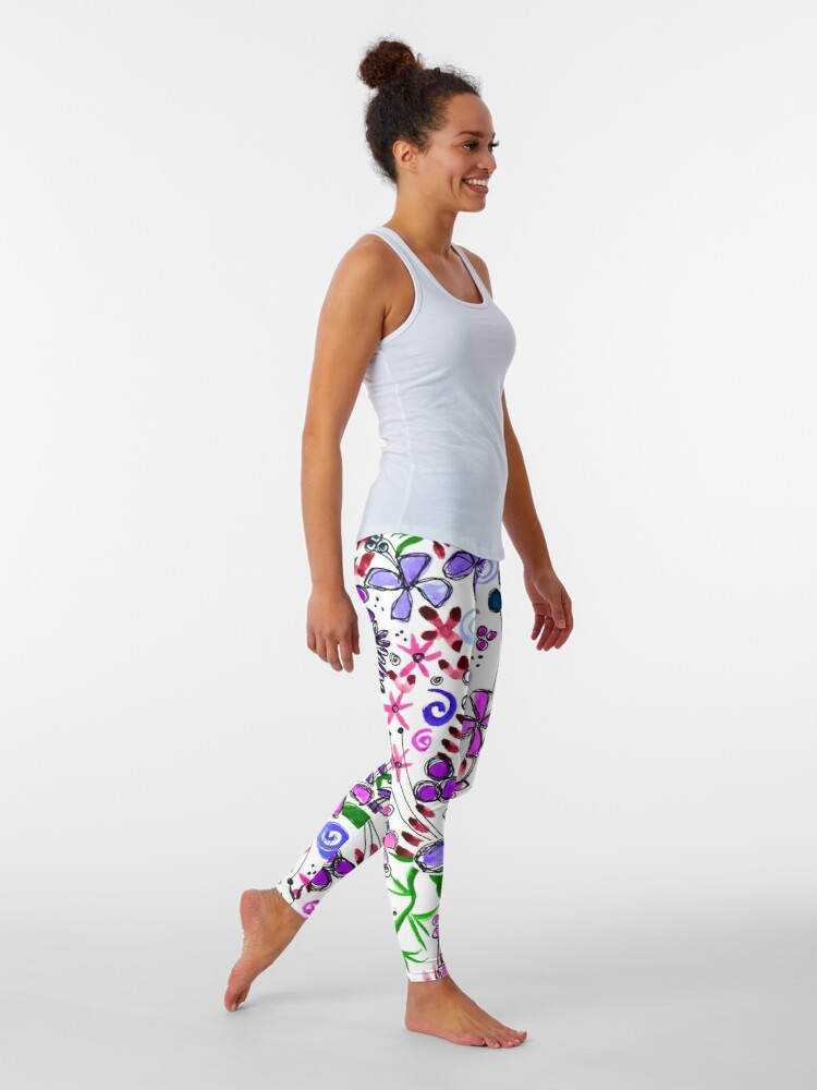 Alternate view of Pixel Dance Purple Leggings