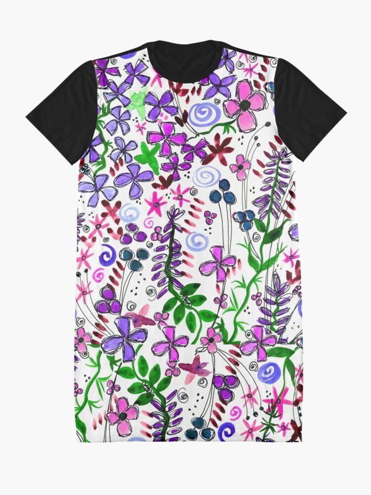 Alternate view of Pixel Dance Purple Graphic T-Shirt Dress