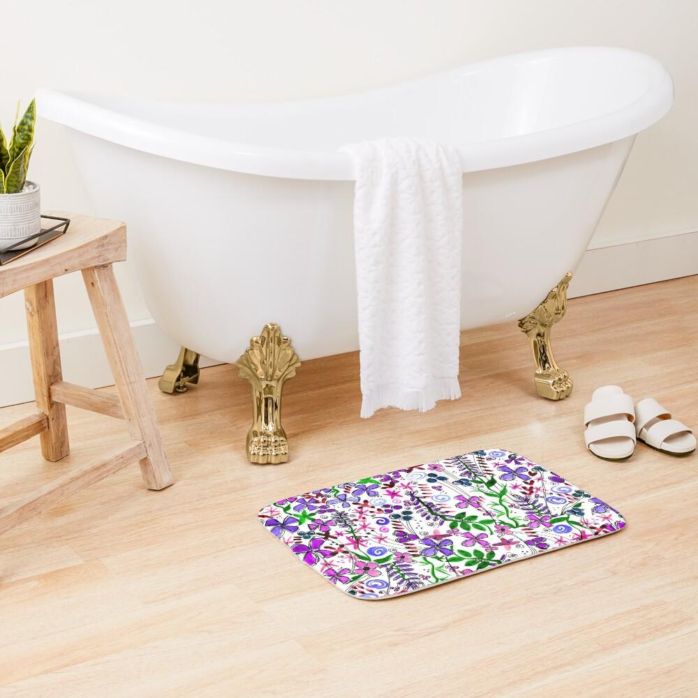 Pixel Dance Purple Bath Mat