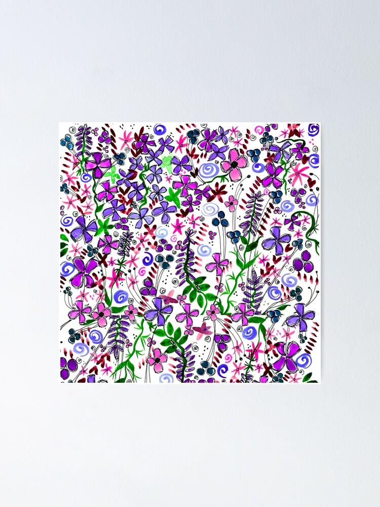 Alternate view of Pixel Dance Purple Poster