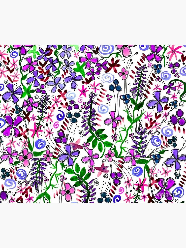 Pixel Dance Purple by HappigalArt