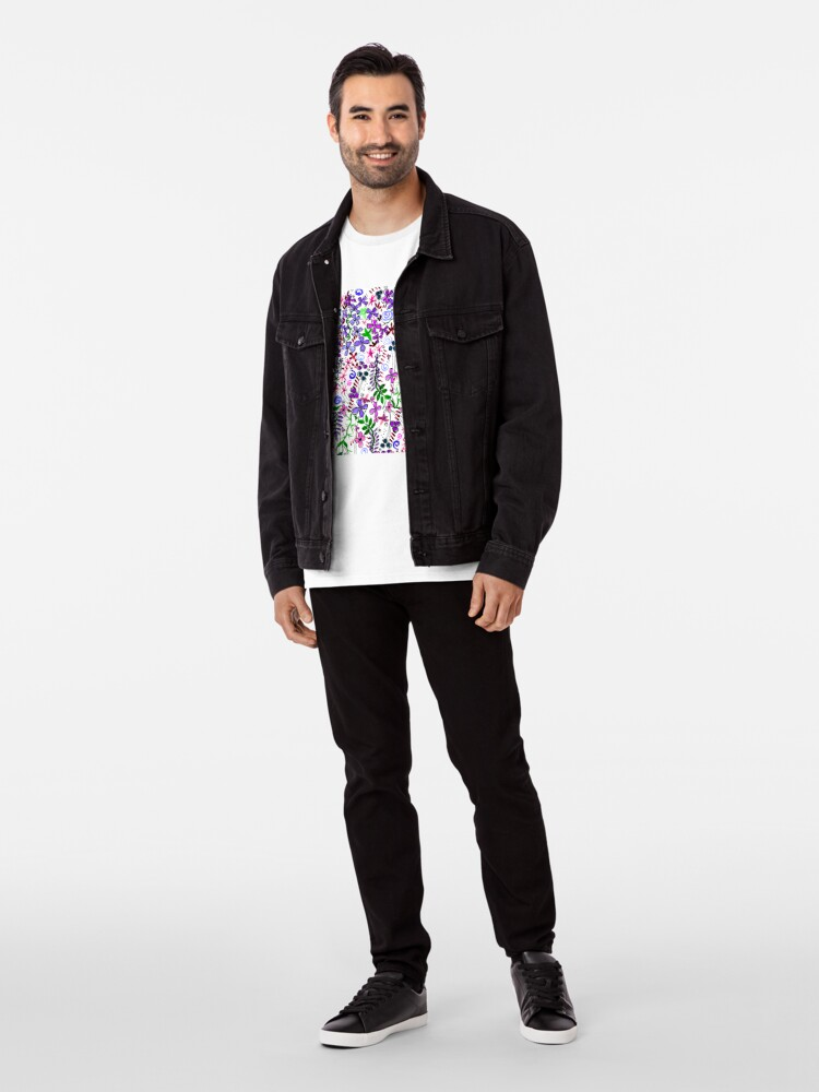 Alternate view of Pixel Dance Purple Premium T-Shirt