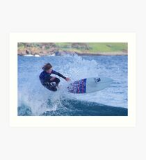 Surfing Action Art Print