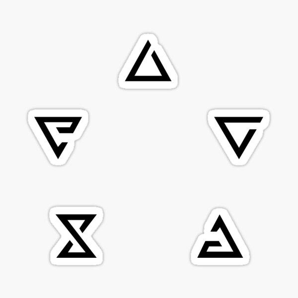 Minimalistische Hexerzeichen Sticker