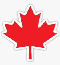 red maple leaf Sticker