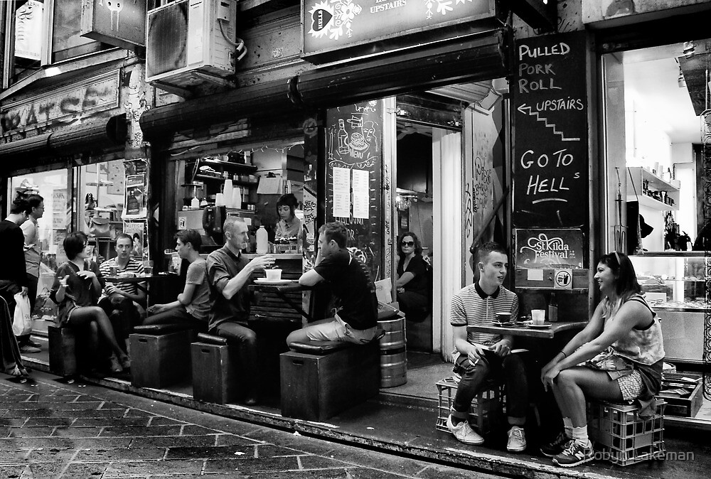 Coffee in Central Place by Robyn Lakeman