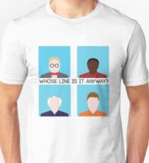 Wessen Linie ist es überhaupt? Nimm zwei Unisex T-Shirt