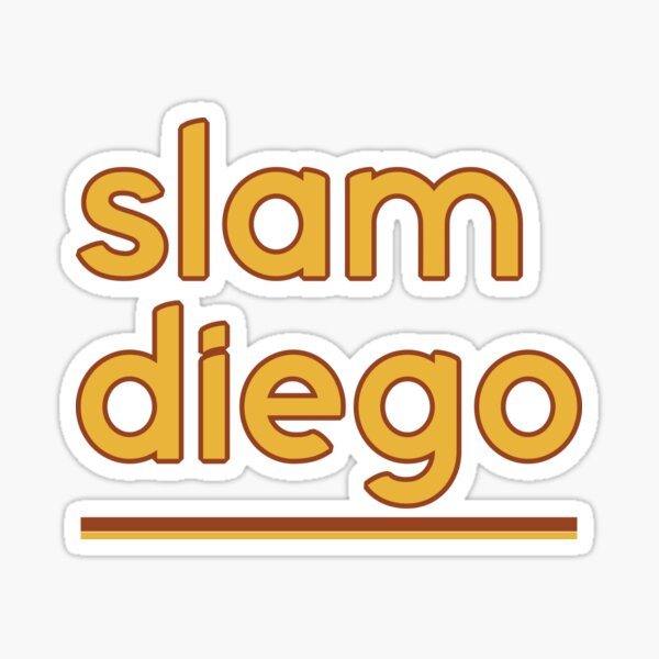 Slam Diego Padres  Sticker