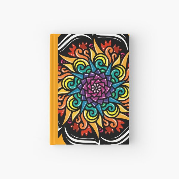 Rainbow Floral Pattern Hardcover Journal