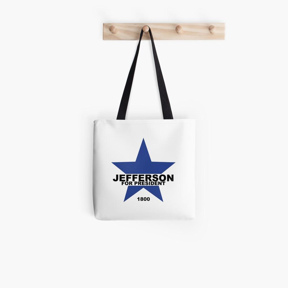 Jefferson para presidente Bolsa de tela