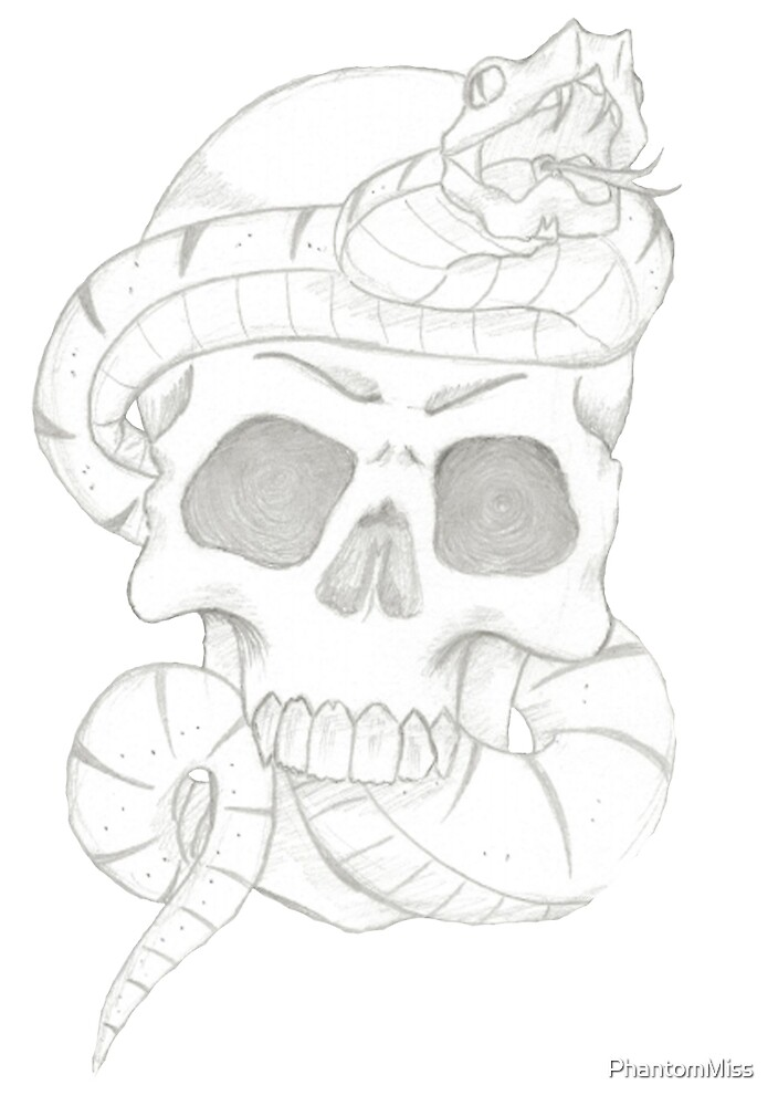 Skull and Snake  by PhantomMiss