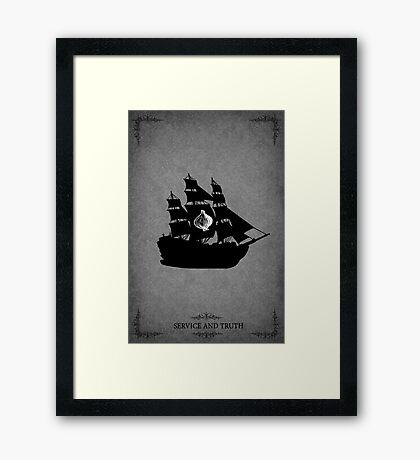 House Seaworth Minimalist Framed Print