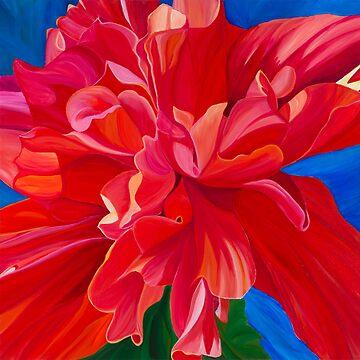 Flamenco Hibiscus by JBPoppyArt