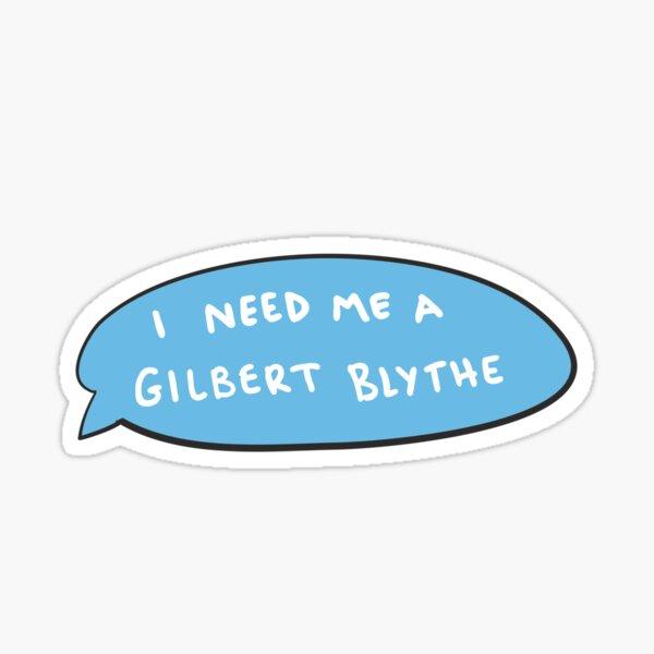 Dibujado a mano Gilbert Blythe mensaje de texto Pegatina