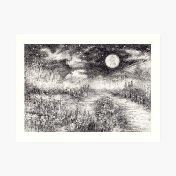 Landscape by night Art Print