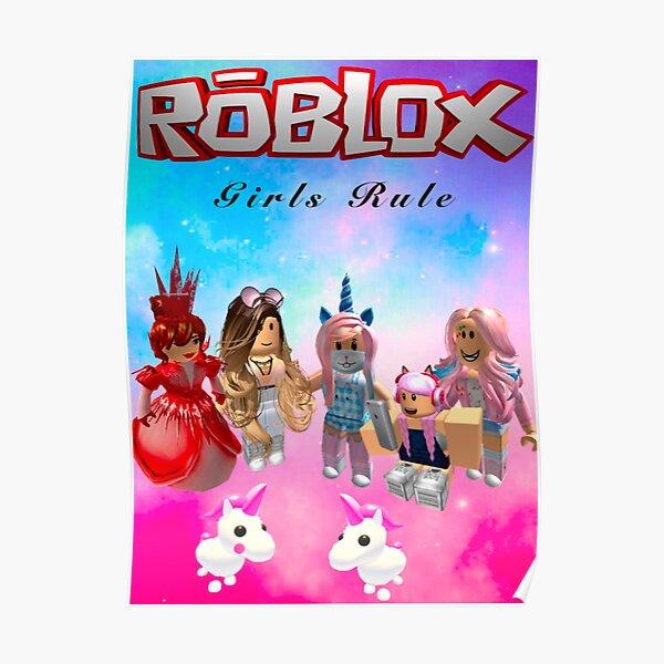 Las niñas gobiernan el estampado rōblox Póster