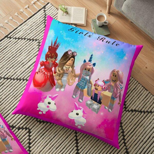 Girls rule rōblox print  Floor Pillow