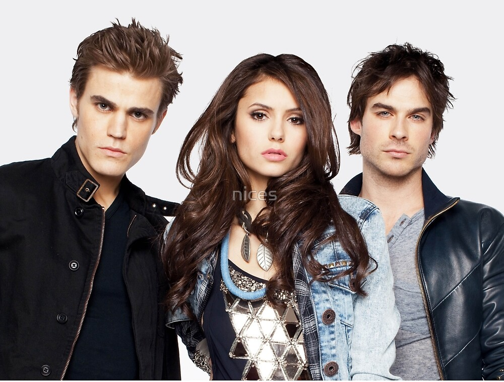 Salvatore Brothers And Elena The Vampire Diaries by nices