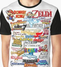 Retro Nintendo Titles  Graphic T-Shirt