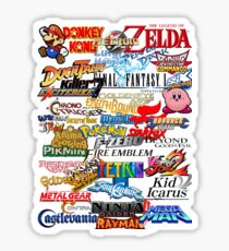 Retro Nintendo Titles  Sticker
