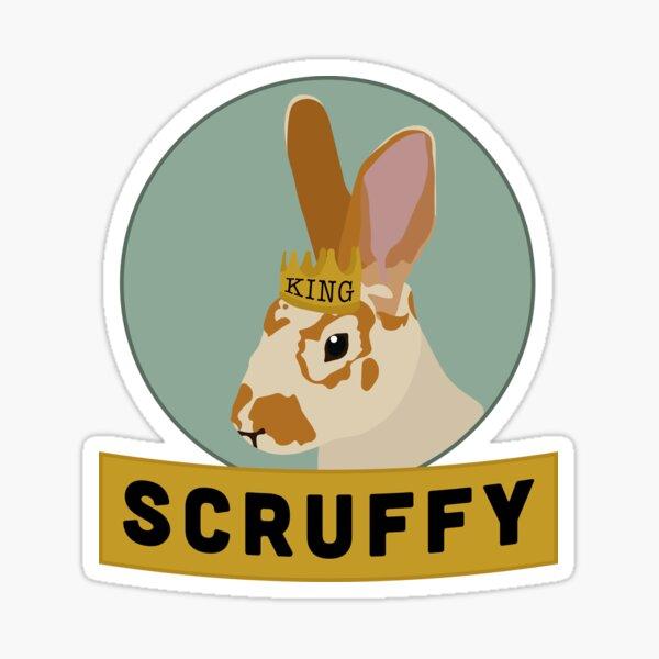 King Scruffy Sticker