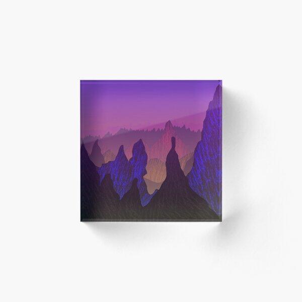 Abstract Mountains Acrylic Block